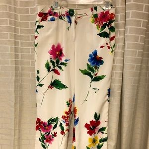 Worth Silky floral dress pants